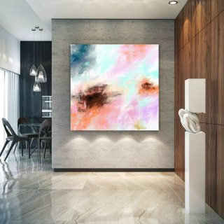 Abstract Canvas Art Extra Large Artwork Original Painting,Painting on Canvas Modern Wall Decor Contemporary Art, Abstract Painting Pac364,24 sqm condo interior design