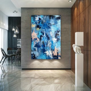Large Abstract Painting,original painting,large interior art,modern abstract,original textured DIc005,dance abstract art