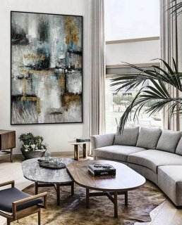 Minimalist Contemporary Hand Painted Acrylic Canvas Painting Extra Large Minimal Modern Neutral Wall Art Vertical Abstract Artwork,large paintings for dining room