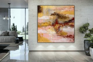 Extra Large Wall Art Original Art Bright Abstract Original Painting On Canvas Extra Large Artwork Contemporary Art Modern Home Decor DMC107,america's cool modernism