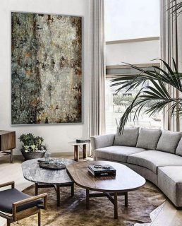 Simple Minimal Modern Neutral Wall Art Abstract Rustic Minimalist Contemporary Hand Painted Canvas Oil Painting Extra Large Vertical,large acrylic canvas