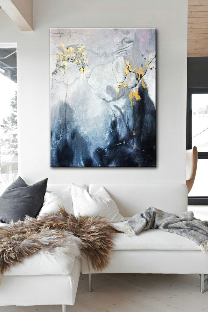 Abstract Art Acrylic Colorful Art Canvas Art Large Art On Canvas Dining Room Wall Art Original Oil Contemporary Art Abstract Wall Art Black White Gold Abstract Art