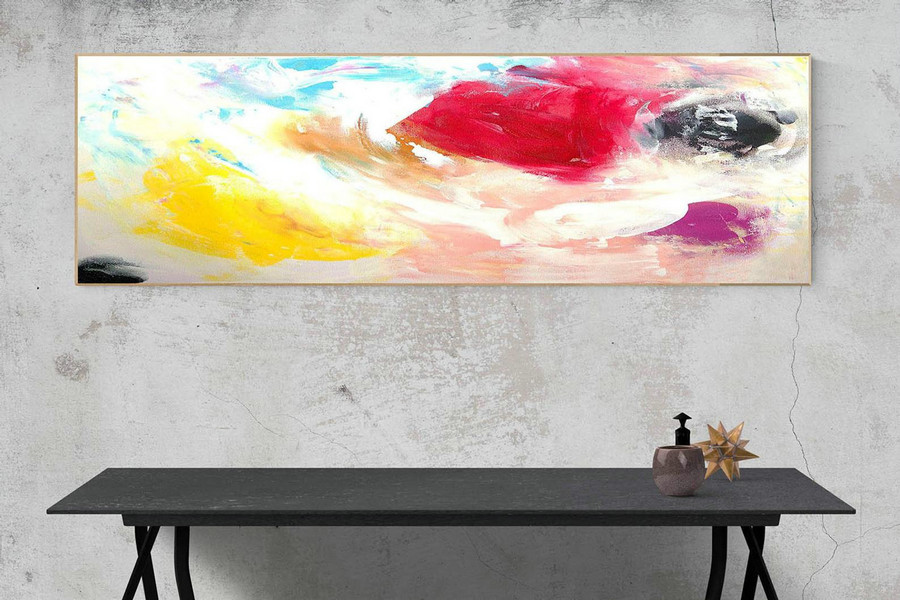 Abstract Canvas Art Large Painting On Canvas Contemporary Wall Art Original Oversize Painting Xas306 Mediterranean Style Decor
